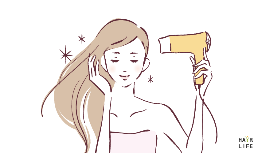 洗髮後請務必吹乾