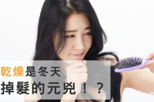 乾燥是冬天掉髮的元兇!?重視頭皮護理解除掉髮危機