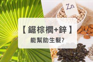 同時攝取鋸棕櫚和鋅能幫助生髮!?
