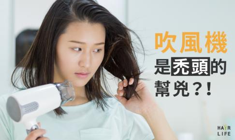 吹風機是禿頭的幫兇?!掉髮量是關鍵。