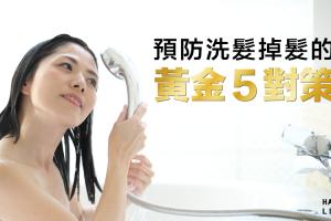洗頭後掉髮的5大黃金對策~預防禿頭就從現在做起~